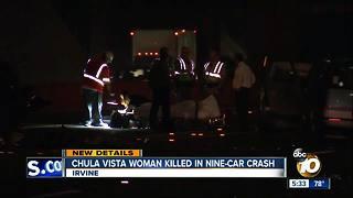 Chula Vista woman killed in nine-car crash