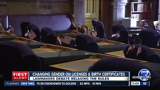 Changing gender on birther certificates & driver's licenses