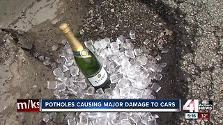 Potholes causing major damage to cars