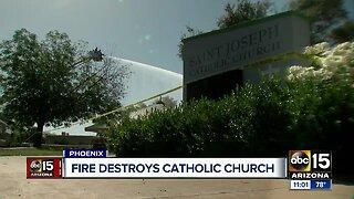 Fire destroys Phoenix Catholic church