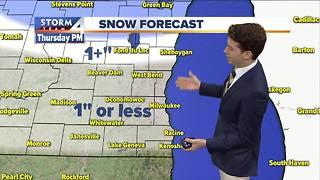 Light snow later Thursday