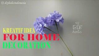 CREATIVE IDEAS FOR HOME DECORATION | CREPE PAPER HYDRANGEA