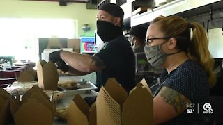 Volunteers deliver holiday cheer and a hot meal to homeless veterans