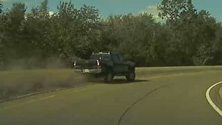 Distracted driver nearly causes accident