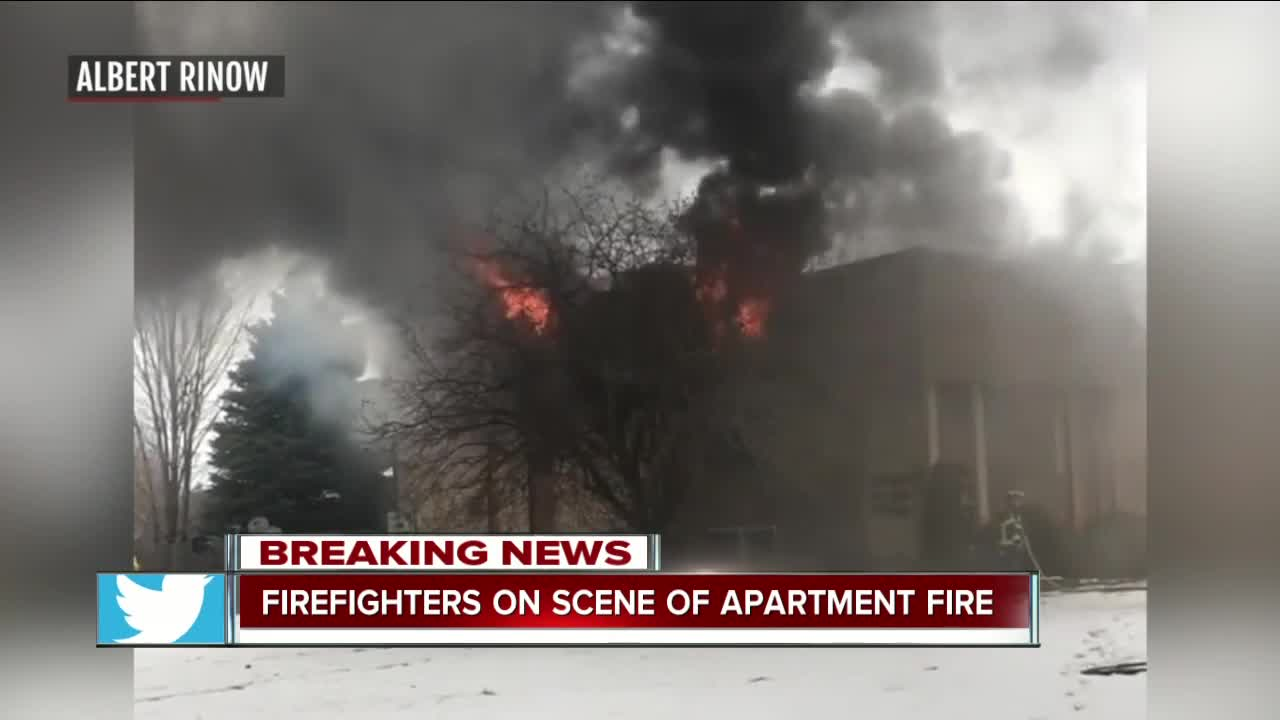 Two people hurt in Lockport apartment fire