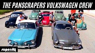 The Panscrapers Volkswagen Crew from Barcelona in Spain with their Volkswagen Beetles & Karmann Ghia