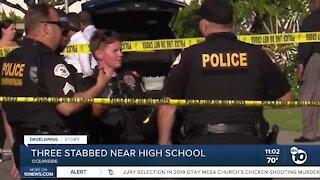 Three stabbed near Oceanside High School