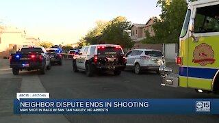 Neighbor dispute ends in shooting in San Tan Valley