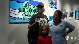 Trash from the Gulf turned into art at the Florida Aquarium thanks to local students