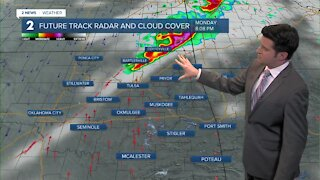 Cold front moves in