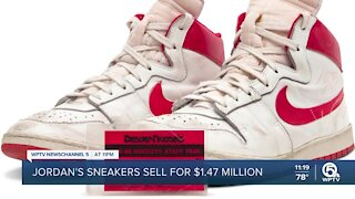 Michael Jordan's game-worn shoes sell for $1.47 million at auction