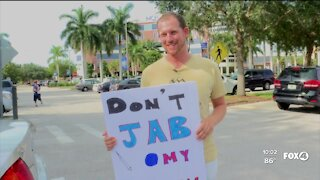 Protesters rallied at Naples Community Hospital
