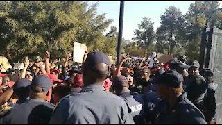 #TotalShutdown protesters clash with police, demand Ramaphosa (MC5)