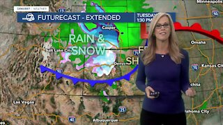 Rain and snow moving into Colorado this week