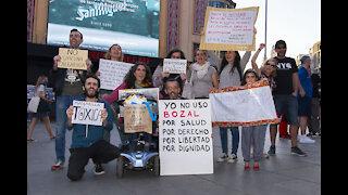 Concentración anticoronaTUFO en Madrid, plaza de callao 6 de junio de 2020