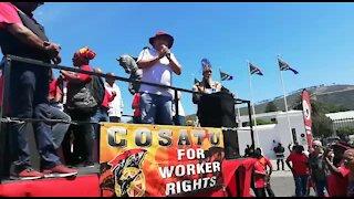 SOUTH AFRICA - Cape Town - Cosatu March (Video) (zqv)