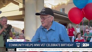 Northwest Bakersfield helps World War II veteran celebrate 100th birthday