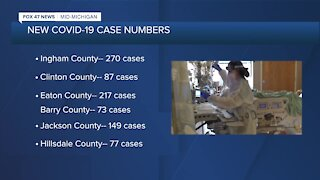 COVID-19 cases are on the rise in mid-Michigan