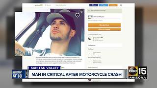Man in critical condition after motorcycle crash in San Tan Valley
