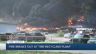 Fire Breaks Out at Tire Recycling Plant