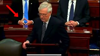 Mitch McConnell Gets Threatened By Deep State Minutes Before US Senate Floor is Stormed