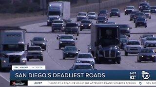 San Diego freeways rank among deadliest in California