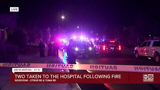Two injured in Goodyear house fire