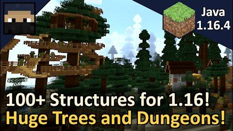 100+ Structures for Minecraft 1.16! Game Changer 3 Datapack! Minecraft Java 1.16.4