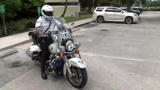 PSLPD motorcycle officers will get new full face helmets after officer suffered injuries in February crash