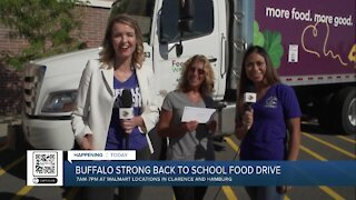 AM Buffalo live at Walmart for Buffalo Strong Back-to-School Food Drive for Feedmore WNY - Part 4