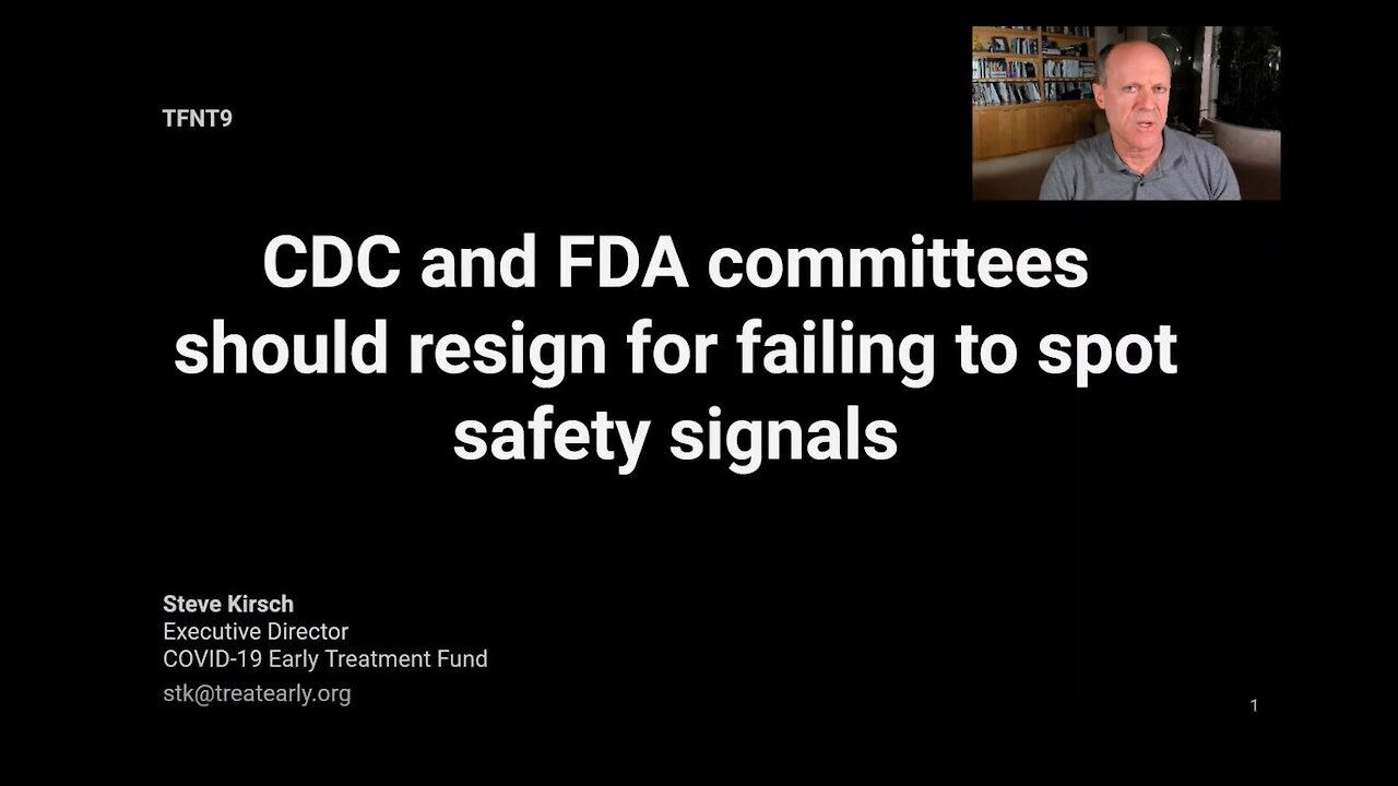 TFNT9: CDC and FDA vaccine committee members should resign for failing to spot safety signals