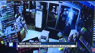 Police search for smash and grab suspects
