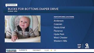 Bucks for Bottoms diaper drive happening today