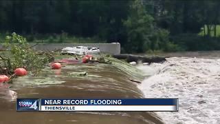Milwaukee River nearing historic flood levels