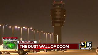 Monsoon storms cause delays at Phoenix Sky Harbor airport