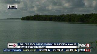 Explore Boca Grande with Glass Bottom Rental kayaks
