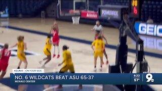 No. 6 Arizona Women's Basketball beats ASU 65-37