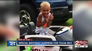 Special birthday surprise for Sapulpa boy