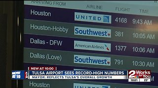 Tulsa Airport sees record-high numbers