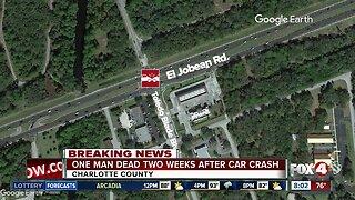 Driver dies two weeks after crash in Port Charlotte