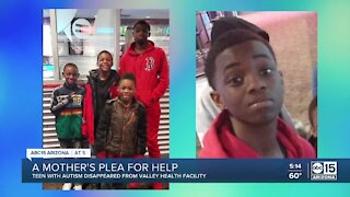 Valley mom pleads for help finding son with autism