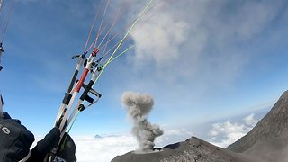 I Lava Challenge! Adrenaline Junkie Paraglides Over Volcanoes In Amazing Footage