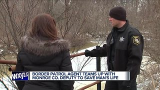 Border patrol agent teams up with deputy to save a life