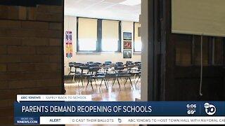 SDUSD parents demand reopening of schools