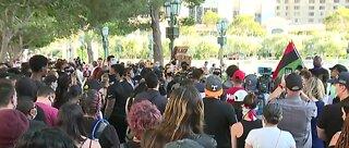 Black Lives Matter protest on Las Vegas Strip
