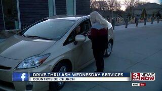 Drive-thru Ash Wednesday services