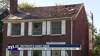4 rescued from fire on Detroit's east side