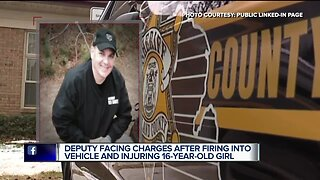 Deputy facing charges after firing into vehicle, injuring 16-year-old girl