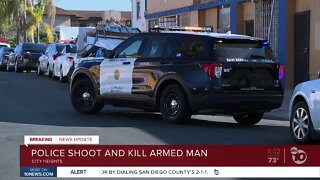 Police shoot and kill armed man