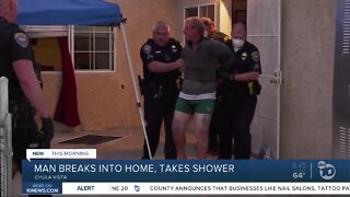 Man arrested after breaking into woman's home to use shower